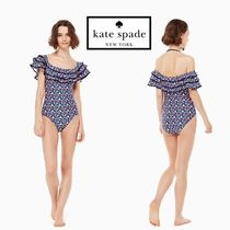 送料込★KATE SPADE 新作♪ Botany Bay Off-Shoulder One-Piece