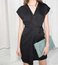 """& Other Stories""Sleeveless Wrap Dress Black"