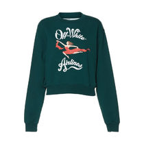 Off-White(オフホワイト) Airlines Crop Crewneck Sweatshirt