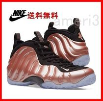NIKE AIR FOAMPOSITE ONE RUST PINK, WHITE & BLACK 314996-602
