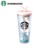 ★STARBUCKS★ Summer palm tree pia coldcup 591ml