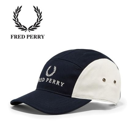 UK発☆FRED PERRY☆5パネル ベースボールキャップ