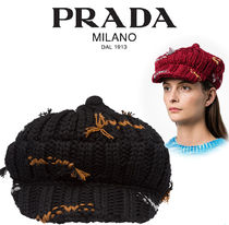 PRADA【関税・送料込☆】wool hat with contrasting threads