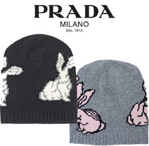 PRADA【関税・送料込☆】embroidered wool and cashmere hat