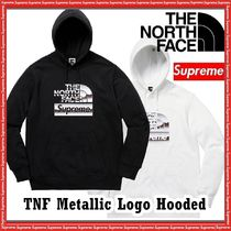 ★Supreme★The North Face Metallic Logo Hooded Sweatshirt