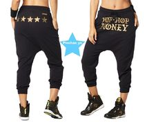 H30.4月新作【ZUMBA】Hip Hop Honey Harem Pants(Black)Z1B00674