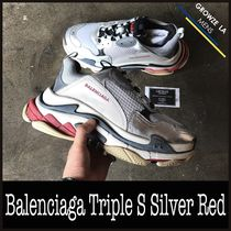 ★【BALENCIAGA】追跡発送 US9 27cm Triple S Silver Red