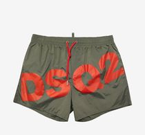 送料関税込!2018SS新作 DSQUARED2 Khaki DSQ2 Logo Swim Shorts