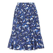 SALE)MSGM(エムエスジイエム) Printed cotton midi skirt