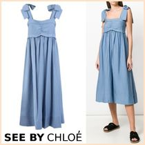 送料・税込★See By Chloe★Bow Strap Midi Dress