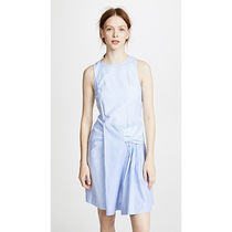 カルヴェン Tie Waist Striped DressBaby Blue/Blanc