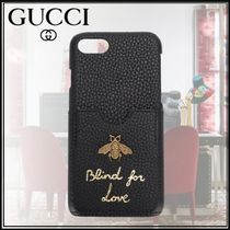 ★GUCCI *Blind For Love* カーフレザー iPhone7 ケース 18SS ★