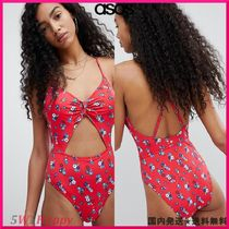 ★ASOS★水着Juicy Couture Floral Print Cut Out Swimsuit