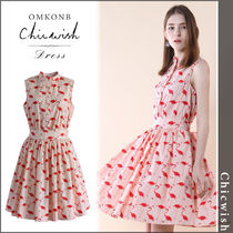 【国内発送・関税込】Chicwish★Flamingo Fun Flare Print Dress