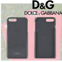 【DOLCE AND GABBANA】プラーク ロゴ付き IPHONE 7 プラスケース