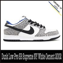 ★【NIKE】US12 30cm Dunk Low Pro SB Supreme NY White Cement