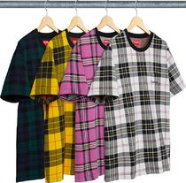 Supreme Jacquard Tartan Plaid Pocket Tee