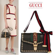 【GUCCI】Sylvie leather bag スタープリントレザーバッグ