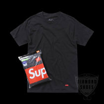 SUPREME HANES TAGLESS TEES BLACK 1枚 S-XL 黒 送料無料