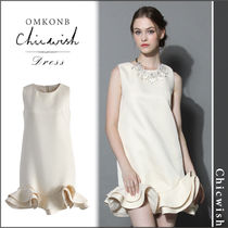 【国内発送・関税込】Chicwish★Silky Night Peplum Shift Dress