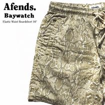 AFENDS(アフェンズ) ハーフ・ショートパンツ [国内発送/送料込] AFENDS Baywatch ショーツ Albino