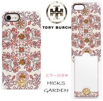 【Tory Burch】SALE! ミラー付き!! iPhone8ケース Hicks Garden