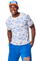 ★SALE★ Zumba Mens City Swag Top (Surfs Up Blue) トップス