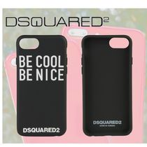 【DSQUARED2】iphone 8 BE COOL グラフィック ケース 黒
