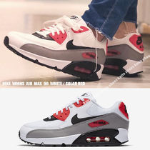 NIKE★WMNS AIR MAX 90★WHITE/SOLAR RED