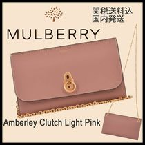 Mulberry(マルベリー) ショルダーバッグ・ポシェット 【国内発送】 Mulberry★Amberley クラッチ ライトピンク