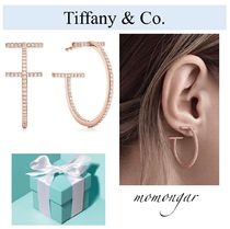 [Tiffany & Co.] Tiffany T Wire Hoop Earrings☆ダイヤ☆18kRG