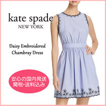 【国内発送】Daisy Embroidered Chambray Dress セール