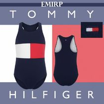 Tommy Hilfiger(トミーヒルフィガー) 子供用水着・ビーチグッズ Tommy Hilfige★GIRLS★フラッグカラー水着★4-7Y