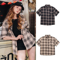 ★WV PROJECT★日本未入荷 Vin check short sleeve shirt【2色】