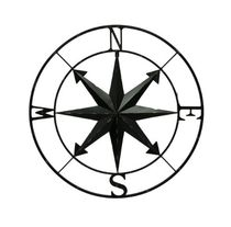 20%OFF Compass Rose WallHanging 28Inch-Black 送料無料 関税込