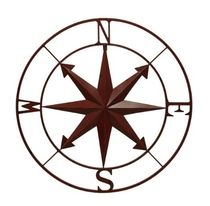 20%OFF Compass Rose WallHanging 28Inch-Red 送料無料 関税込