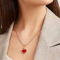 Chopard(ショパール) ネックレス・ペンダント Chopard Happy Hearts 18Kローズ金ダイヤ赤ストーンネックレス