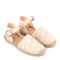 bonpoint/Embroidered open rope-soled sandals