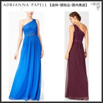 Adrianna Papell(アドリアナパぺル) ドレス-ロング 【海外限定】AdriannaPapellガウン☆Embellished Lace One-Shoul