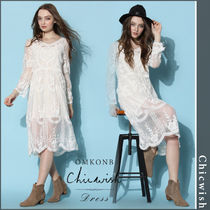 【国内発送・関税込】Chicwish★Boho Breeze Sheer Lace Dress