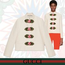 """GUCCI ウールシルク ジャケット""""Soave Amore Guccification"""""""