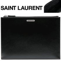 Saint Laurent/正規品/超特急EMS/送料込みSteel logo clutch bag