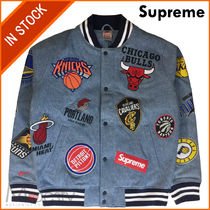 【即発】SUPREME NIKE/NBA TEAMS WARM-UP JACKET DENIM LARGE