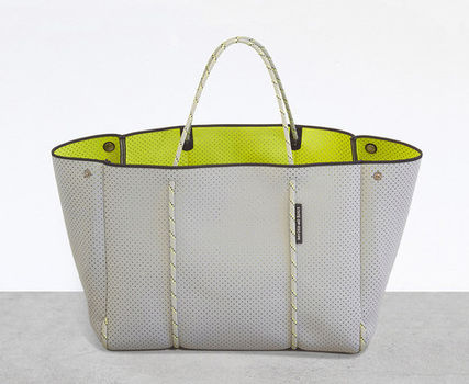 State of Escape マザーズバッグ 入手困難カラー!State of EscapeネオプレンBAG Grey/Yellow(2)