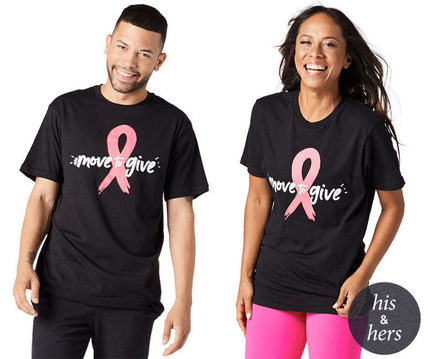 ZUMBA フィットネストップス ZUMBA Party in Pink Move to Give Tee (Bold Black) Tシャツ
