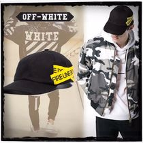 18SS【Off-White】Yellow Fire Tape☆キャップ /黒