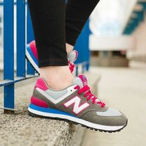 New Balance●WL574CPW グレー×ピンク 関税/送料込追跡付
