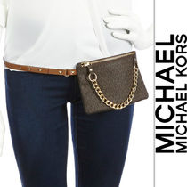 Michael Kors マイケルコース Belt Bag with Pull Chain Brown