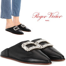 【18SS】大注目!!★ROGER VIVIER★Bab' Viv' leather slippers