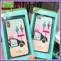 【kate spade】お花柄車♪out of office iPhone7/8 Plus or X★